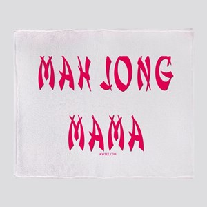 Mah Jong Mama Throw Blanket