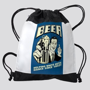 Beer Helping White Guys Dance Drawstring Bag