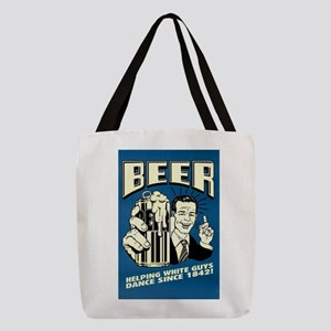 Beer Helping White Guys Dance Polyester Tote Bag