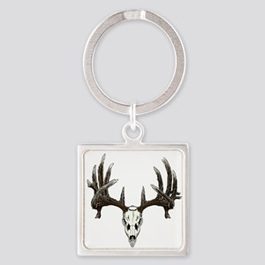 whitetail skull Square Keychain