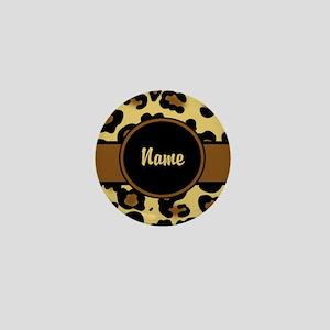 Leopard Print Personalized Mini Button