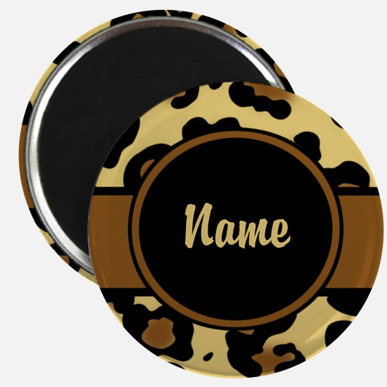 Leopard Print Personalized Magnet