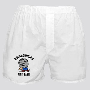 Funny Rockhounding Ain't Easy Boxer Shorts