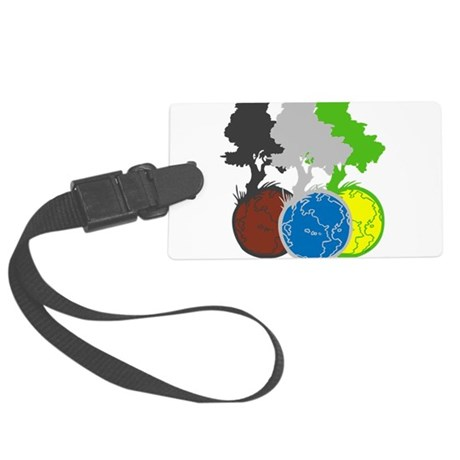 OYOOS Trees Earth design Large Luggage Tag