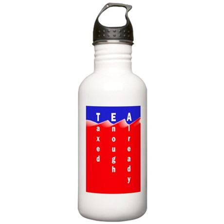 Tea on Sea of Red Ink Stainless Water Bottle 1.0L