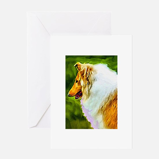 Rough Coat Collie Greeting Cards