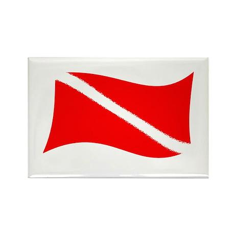 Scuba Flag Blank Rectangle Magnet (100 pack)