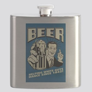 Beer Helping White Guys Dance Flask