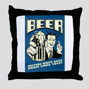 Beer Helping White Guys Dance Throw Pillow