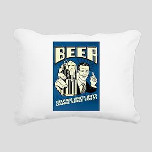 Beer Helping White Guys Rectangular Canvas Pillow