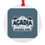 Acadia National Park Round Ornament