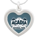 Acadia National Park Silver Heart Necklace