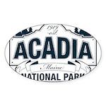 Acadia National Park Sticker (Oval 10 pk)