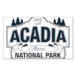 Acadia National Park Sticker (Rectangle)
