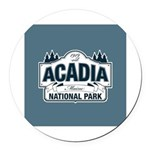 Acadia National Park Round Car Magnet