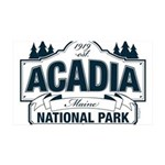 Acadia National Park 35x21 Wall Decal
