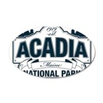 Acadia National Park 35x21 Oval Wall Decal