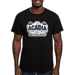 Acadia National Park Men's Fitted T-Shirt (dark)