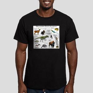 Oklahoma State Animals Men's Fitted T-Shirt (dark)