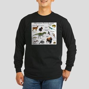 Oklahoma State Animals Long Sleeve Dark T-Shirt