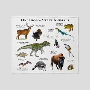 Oklahoma State Animals Throw Blanket