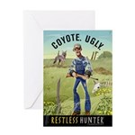 Coyote. Ugly. Greeting Card