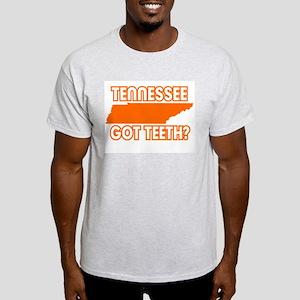 TENNESSEE GOT TEETH FUNNY SHI Ash Grey T-Shirt
