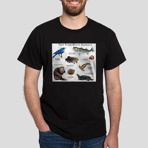 New York State Animals Dark T-Shirt