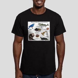 New York State Animals Men's Fitted T-Shirt (dark)