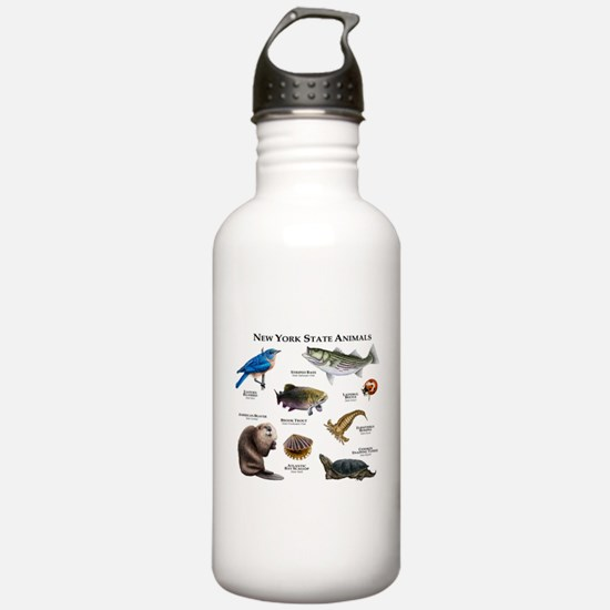 New York State Animals Water Bottle