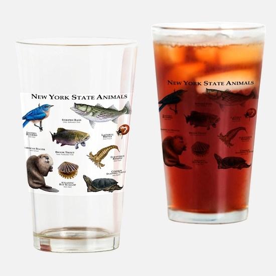 New York State Animals Drinking Glass