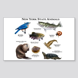 New York State Animals Sticker (Rectangle)