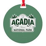 Acadia National Park Round Ornament