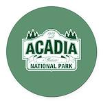 Acadia National Park Round Car Magnet