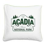 Acadia National Park Square Canvas Pillow