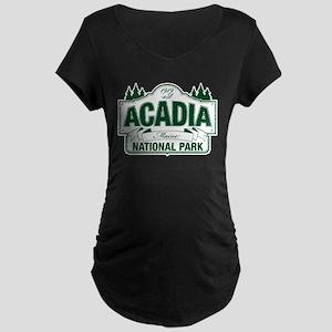 Acadia National Park Maternity Dark T-Shirt