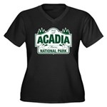 Acadia National Park Women's Plus Size V-Neck Dark