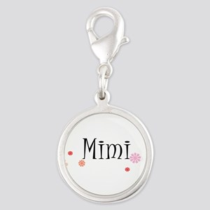 Mimi Retro Silver Round Charm