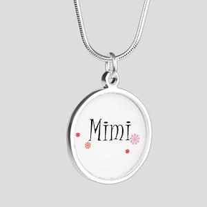 Mimi Retro Silver Round Necklace