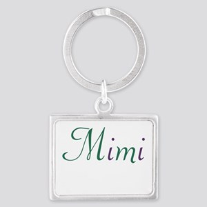 Mimi Green and Purple Landscape Keychain