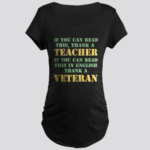 If you can read this thank teacher Maternity Dark