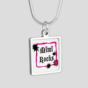 Mimi Rocks Silver Square Necklace