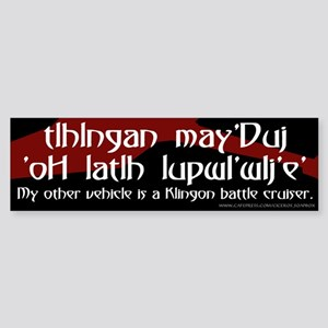 Klingon Battle Cruiser (2) Bumper Sticker