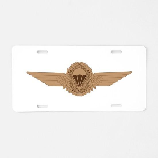 German Parachutist Aluminum License Plate