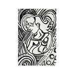 Mixed Emotions Black and White Drawing Rectangle M