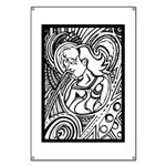 Mixed Emotions Black and White Drawing Banner