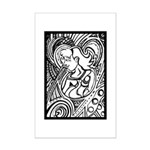 Mixed Emotions Black and White Drawing Mini Poster