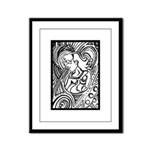 Mixed Emotions Black and White Drawing Framed Pane