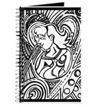 Mixed Emotions Black and White Drawing Journal