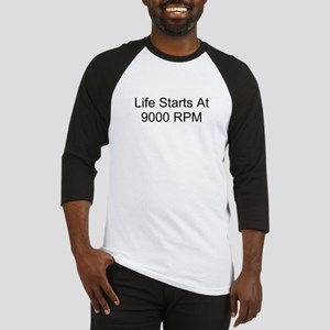 Life Starts At 9000 RPM Baseball Jersey